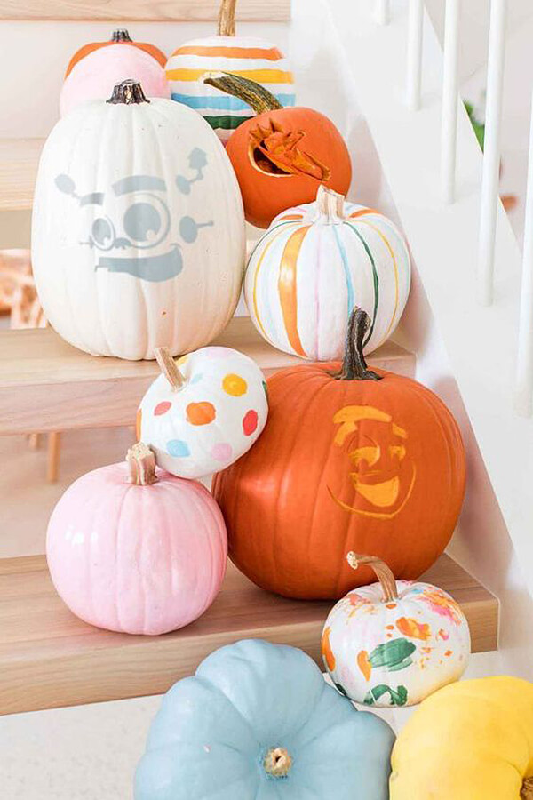 Super Stencil Fall Pumpkin Decoration