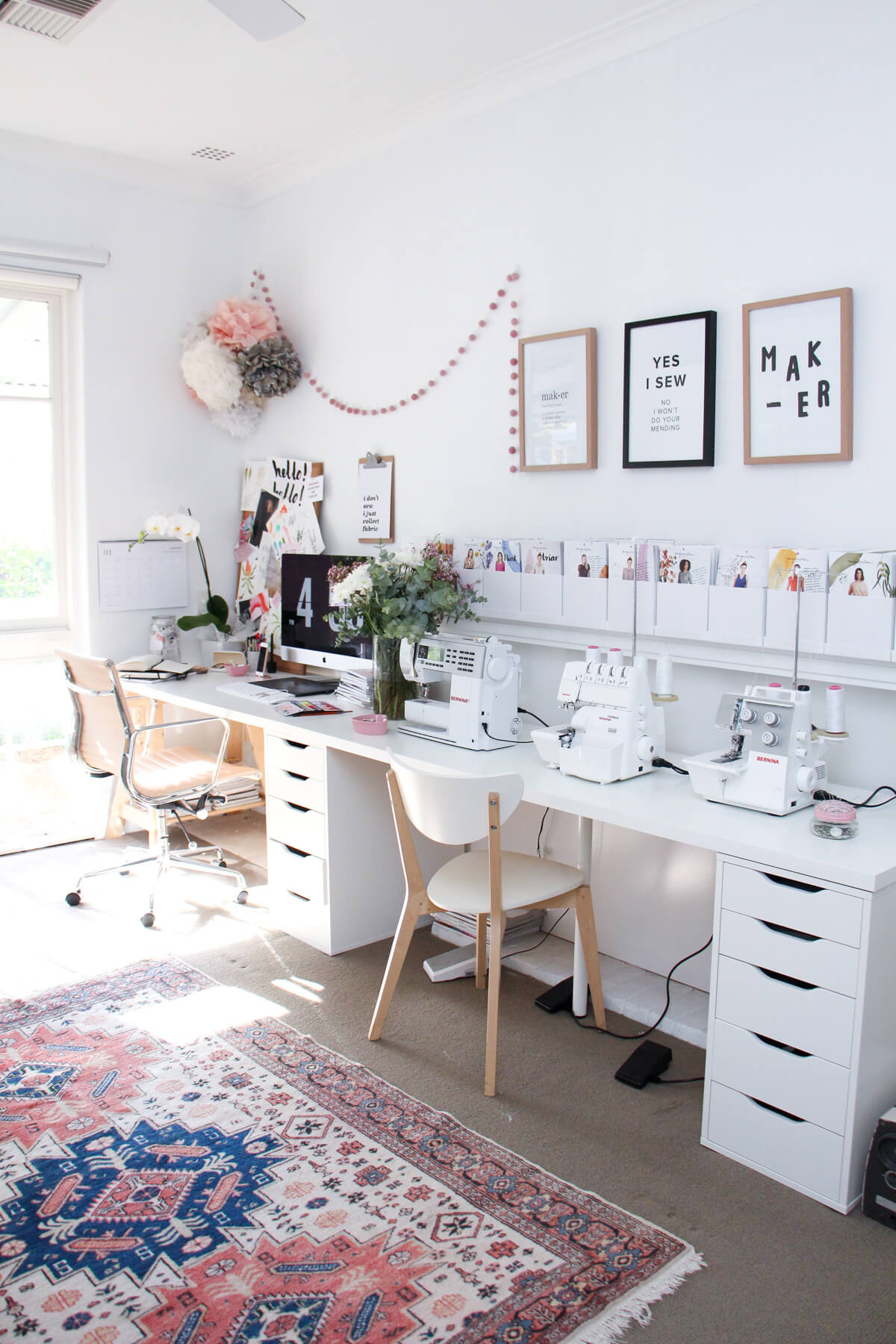 Double Style Crafting Work Desk