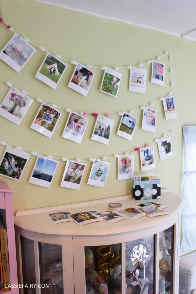 Photo Clips in Fairy Lights for Wall Hangings