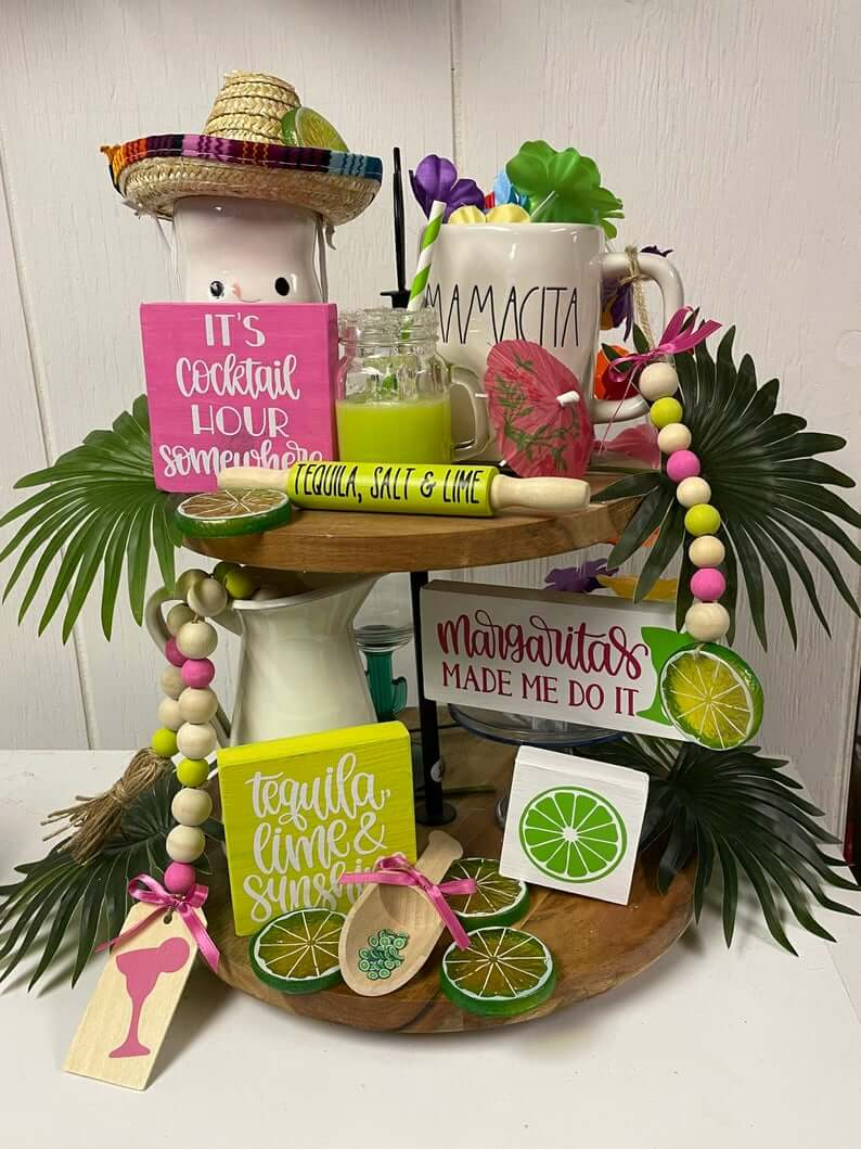 Margarita Fruit Tiered Decorative Tray