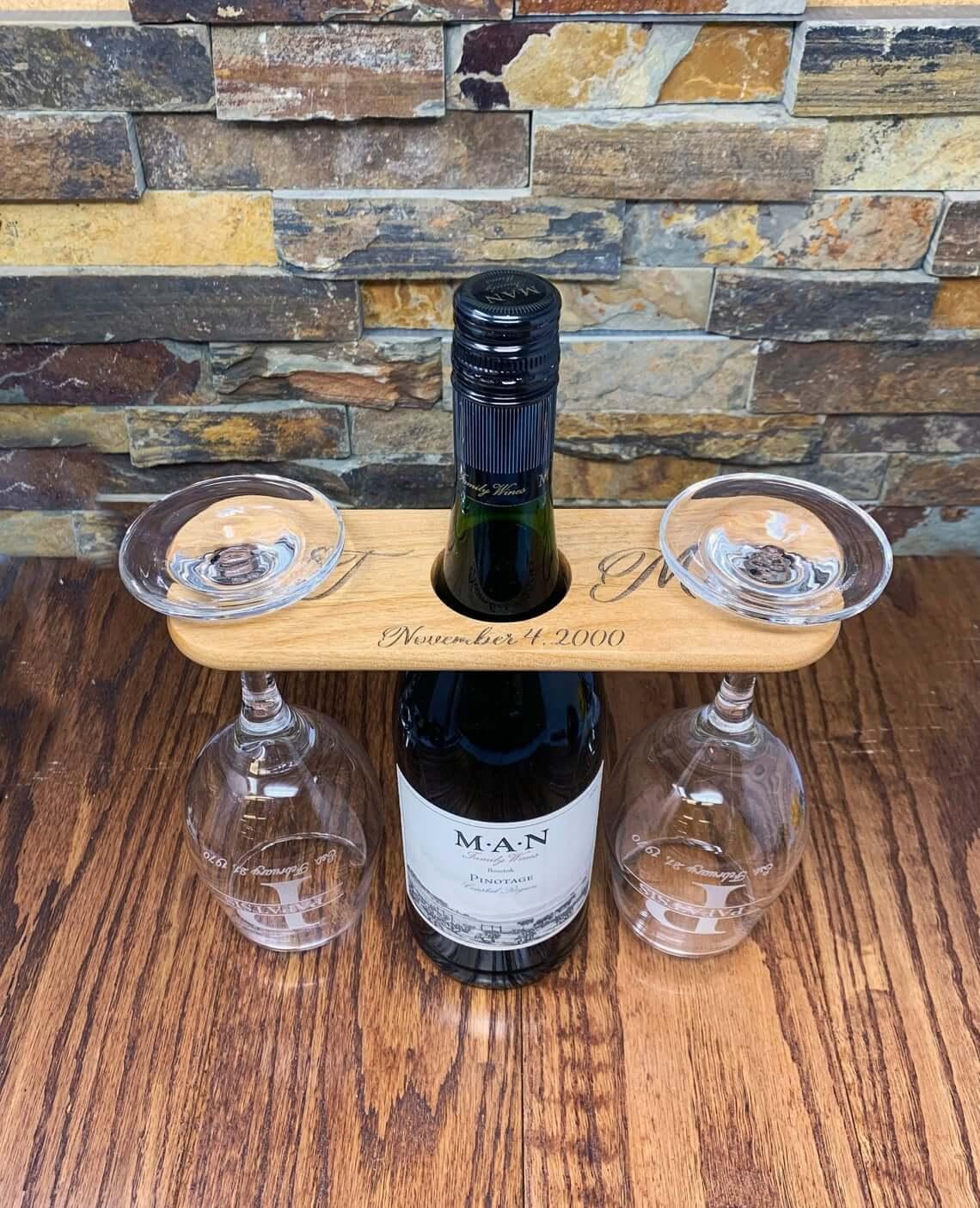 Personalized Wine Glass Caddy Memento