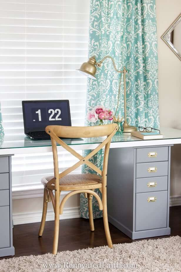 Sophisticated DIY Craft Table Design