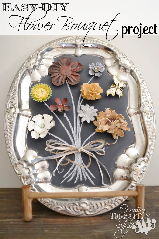 Easy DIY Glued Flower Bouquet