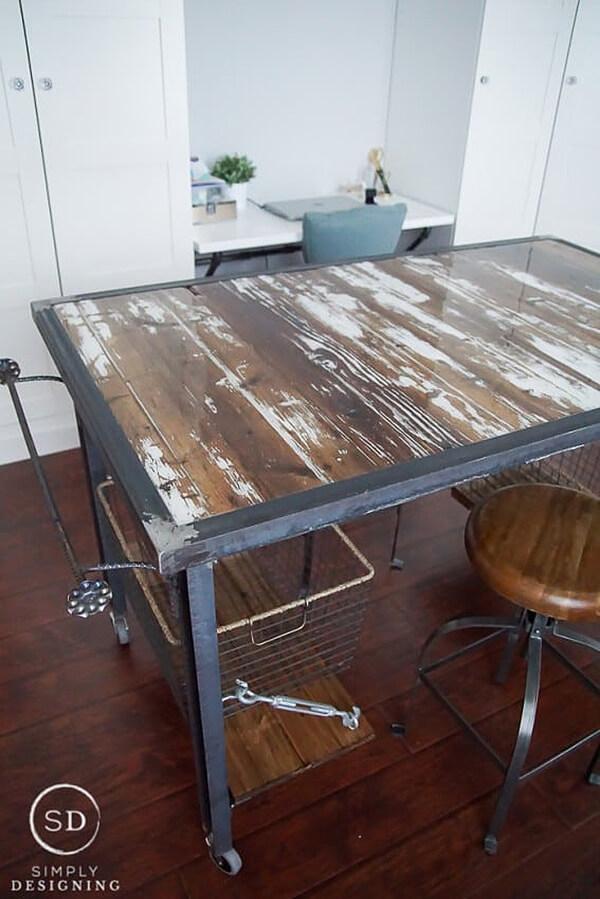 DIY Industrial Crafting Work Table