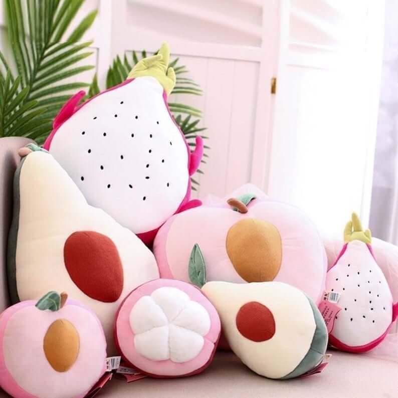 Cute Fruit Shaped Plush Pillow
