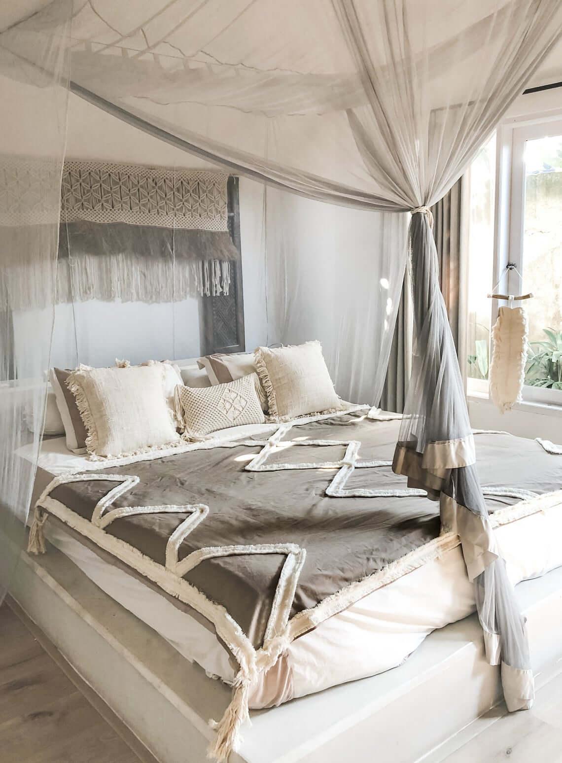Double Bed Mocha Boho Blanket