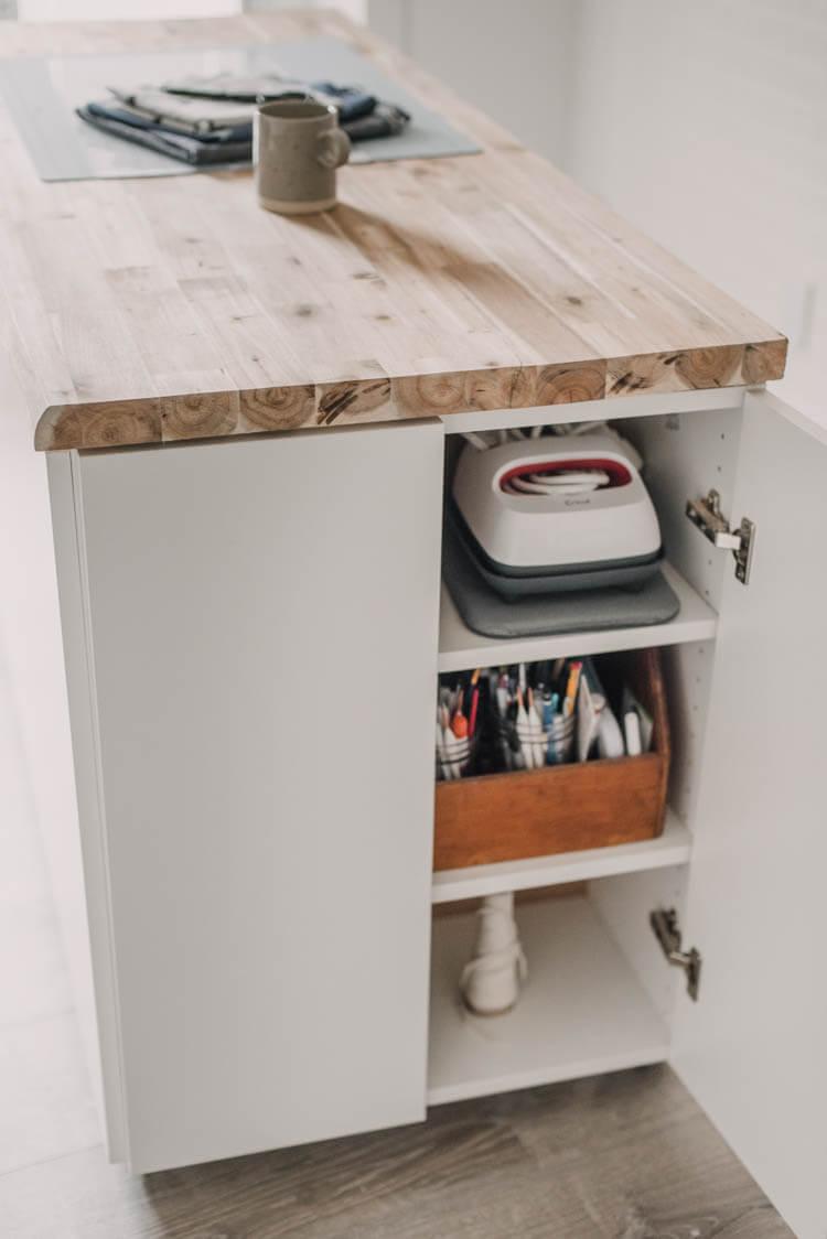 DIY Craft Table with Hidden Storage