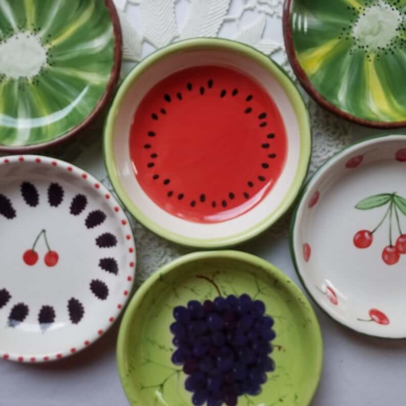 Bright and Colorful Fruit Dish Bowls