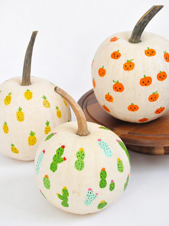 Fun Finger Print Pumpkin Painting for Kids