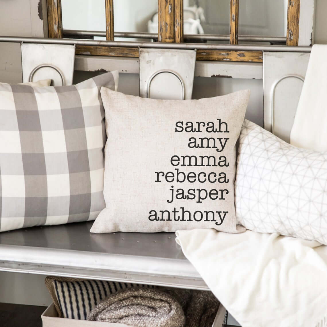 Put Everyone's Name on This Throw Pillow Case