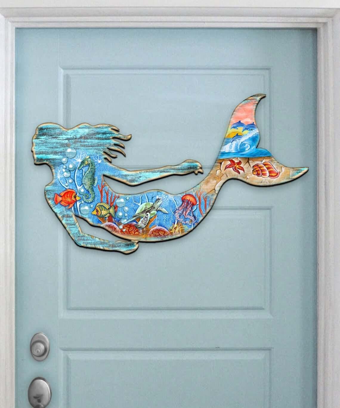 Small Glittering Mermaid Sticker