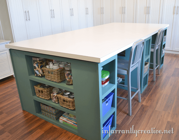 Oversized Storage Friendly Crafting Table
