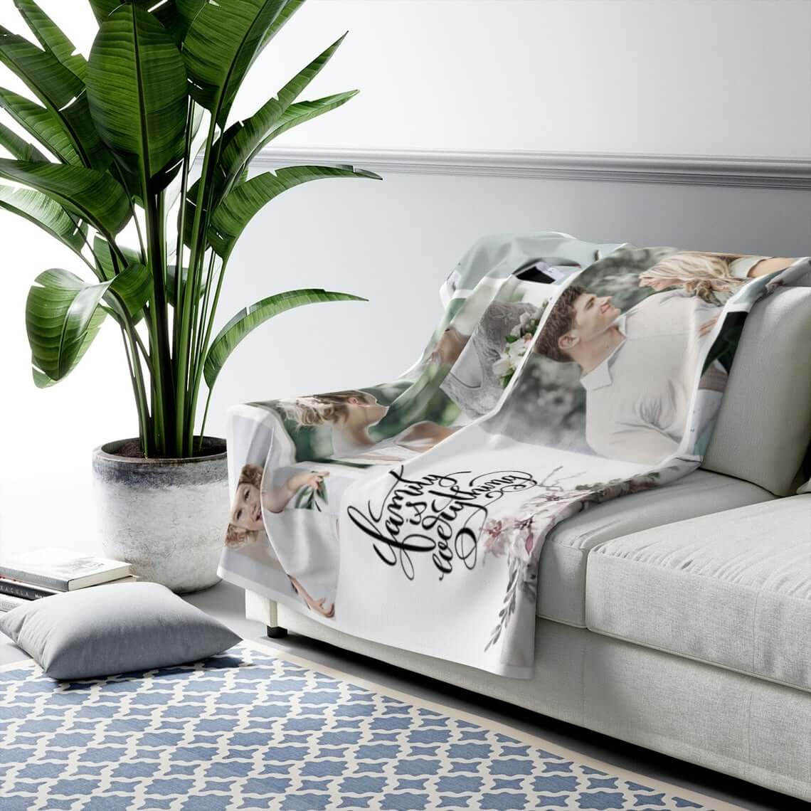 Full-Color Photo Blanket for Adults