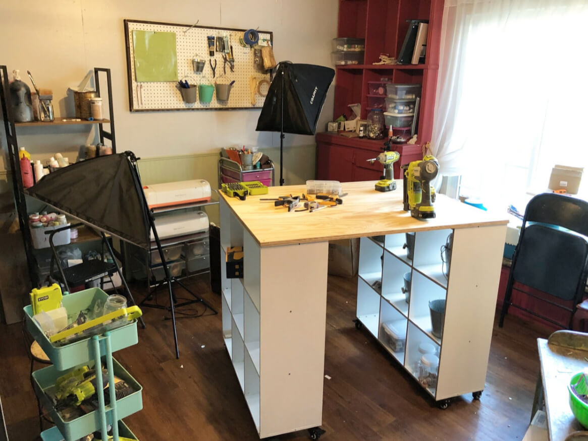 Budget-Friendly Tall Crafting Desk
