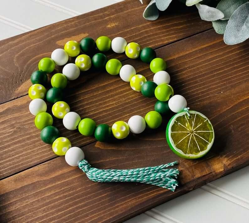 Colorful Lime Margarita Bead Garland