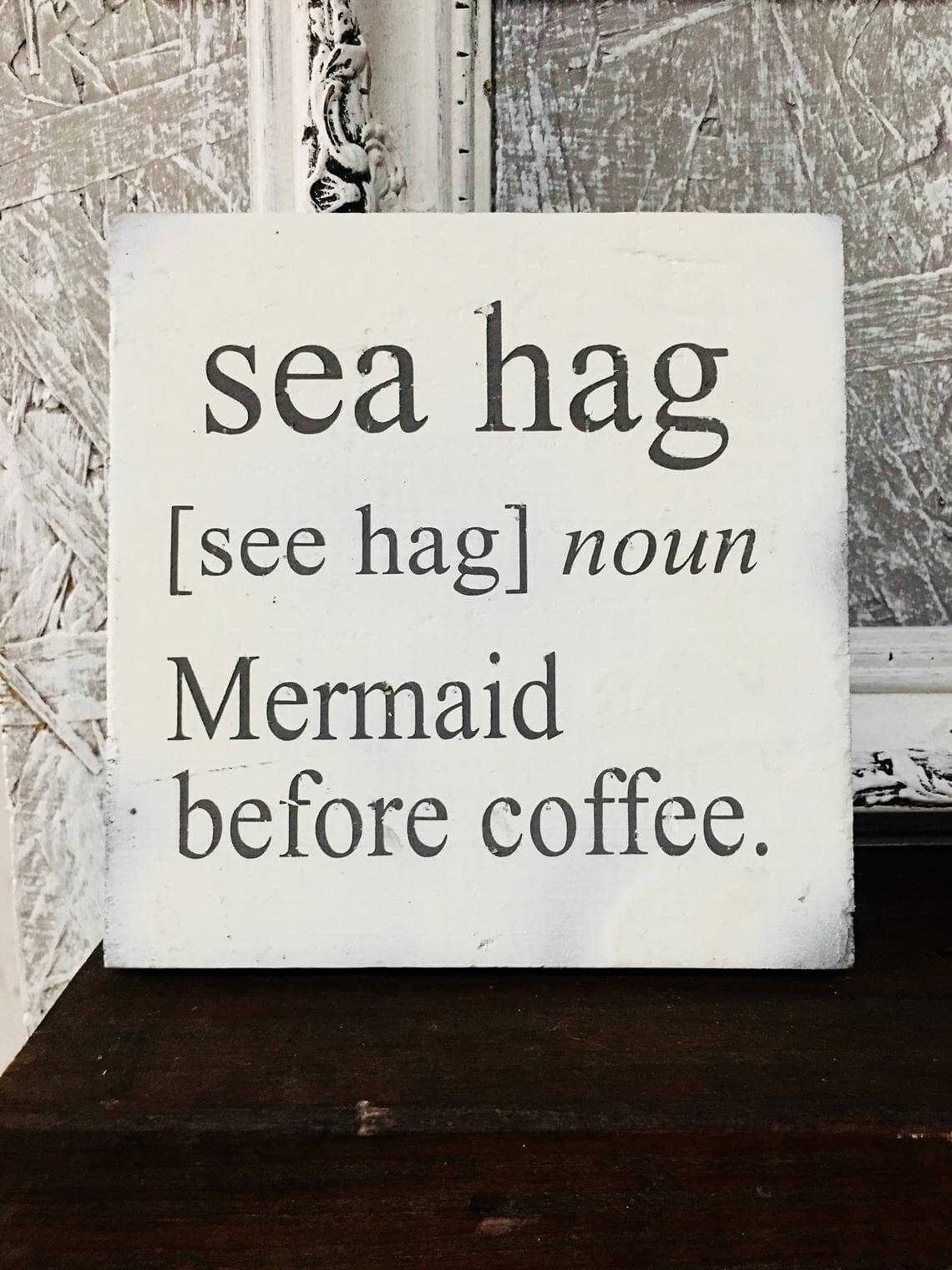Simple Vintage Mermaid Sign for Home Décor