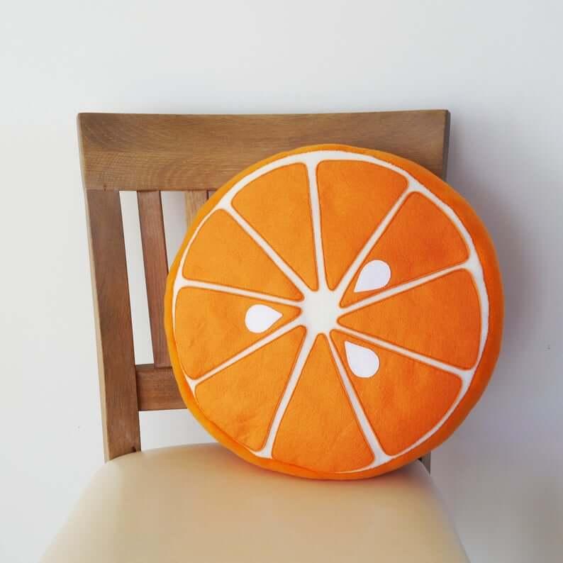 Cute Handmade Orange Fruit Pillow