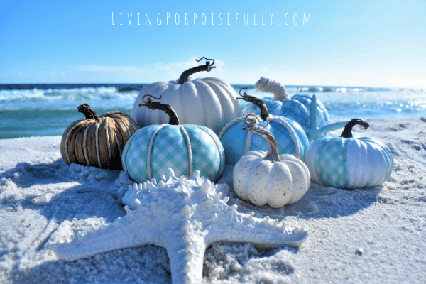 Cool and Coastal Sea Lover's Painted Pumpkins