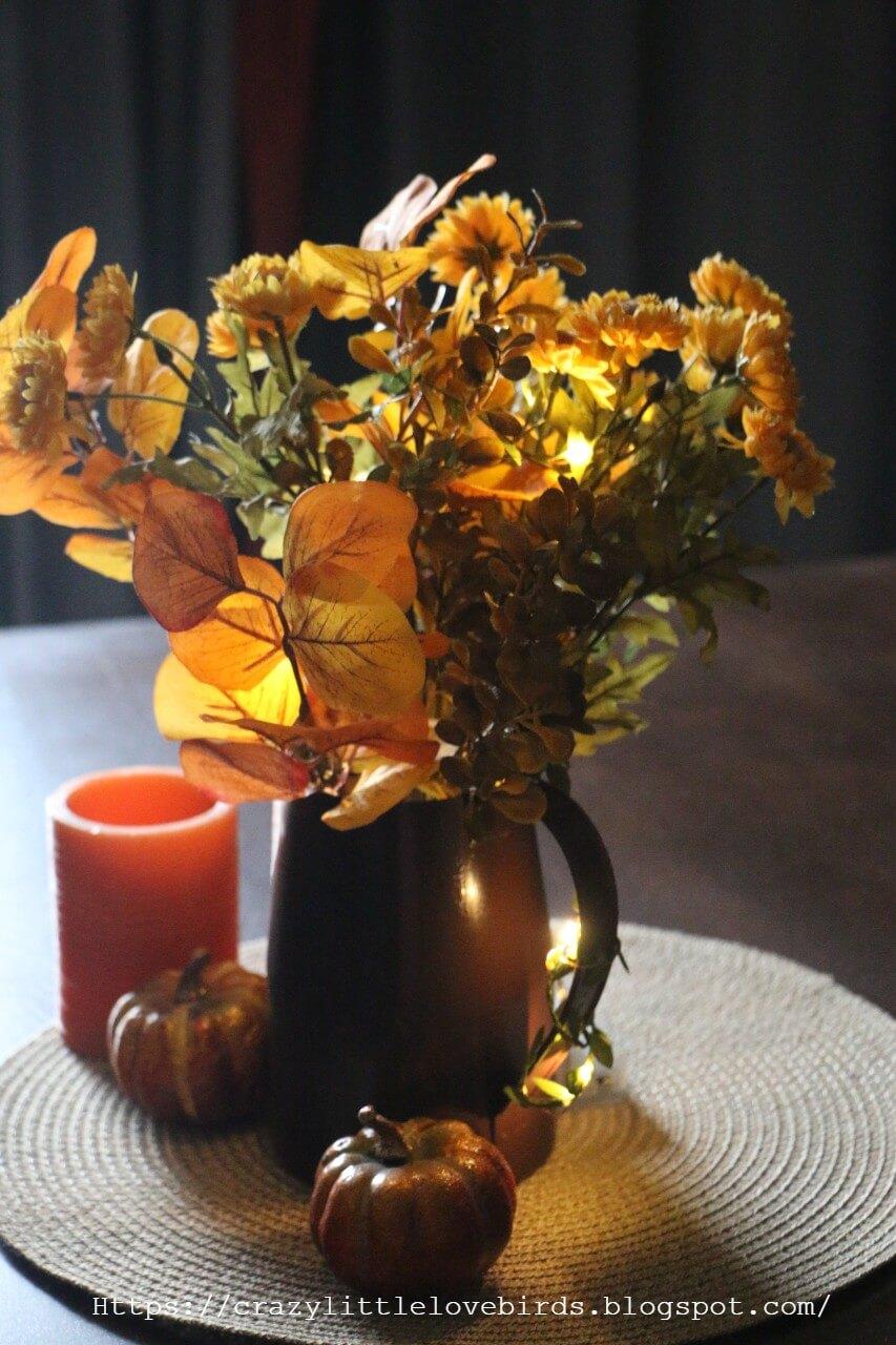Pretty as a Pitcher Fall Floral Arrangements