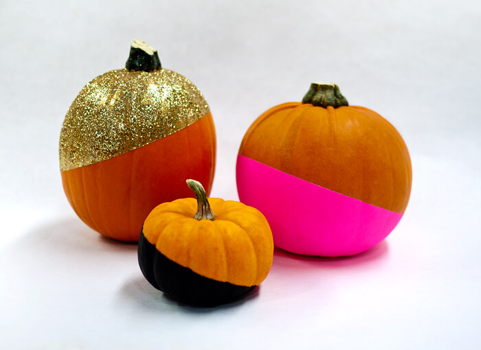 Abstract and Modern Dipped Designer Pumpkins