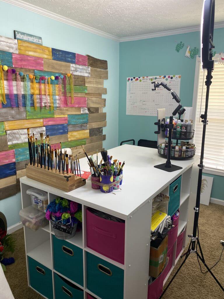 Craft Lover's Dream Cube Homemade Desk