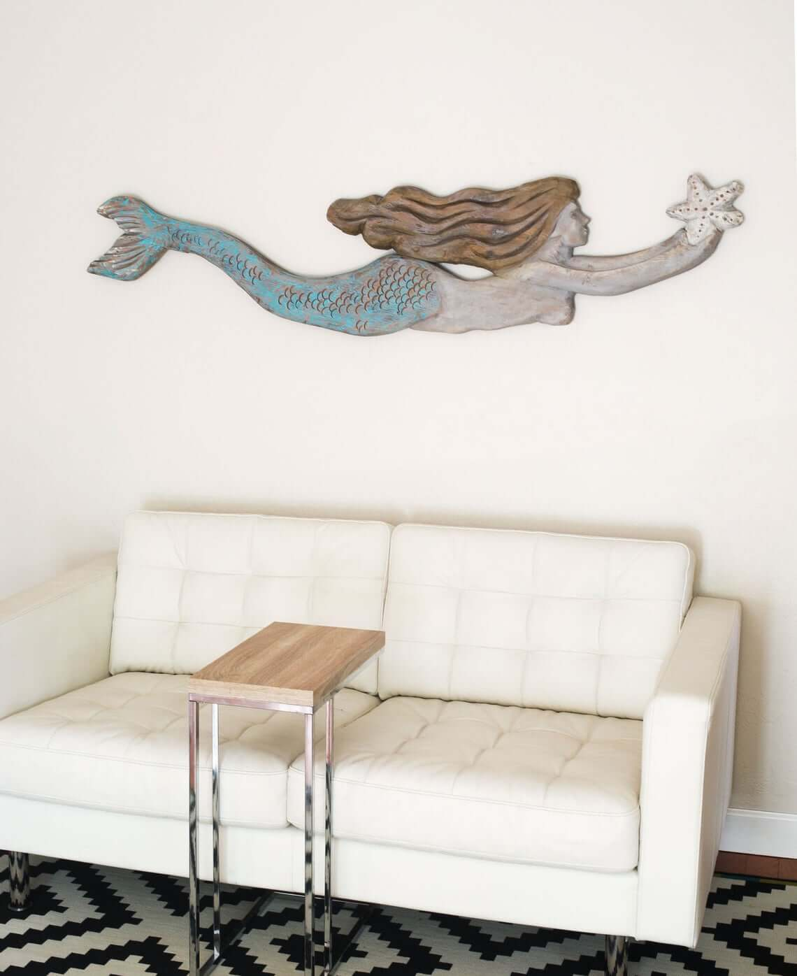 Scaled Mermaid with Starfish Home Décor