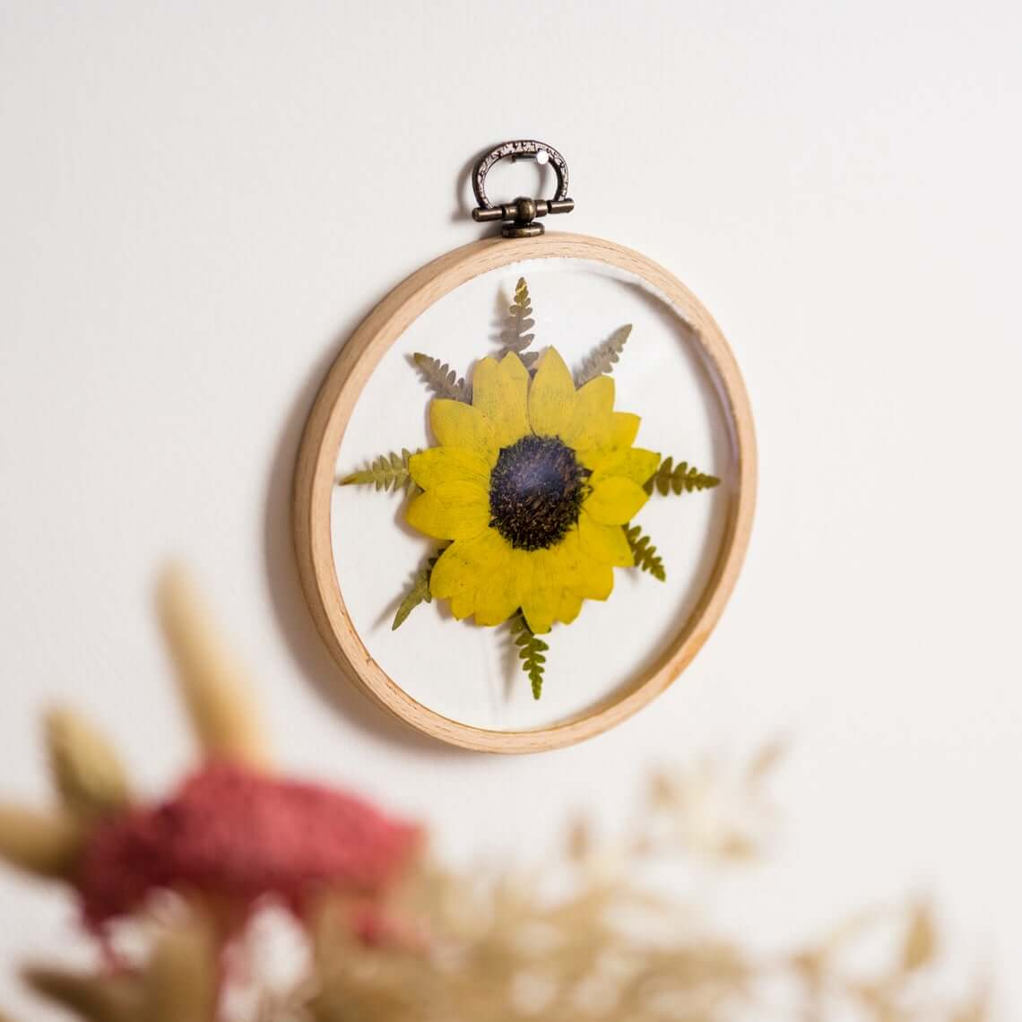 Floral Sunflower Wall Hanging Accessory