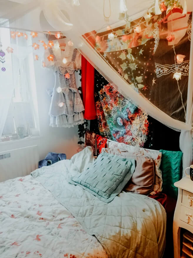 Whimsical Fairy Lights Bed Hanging