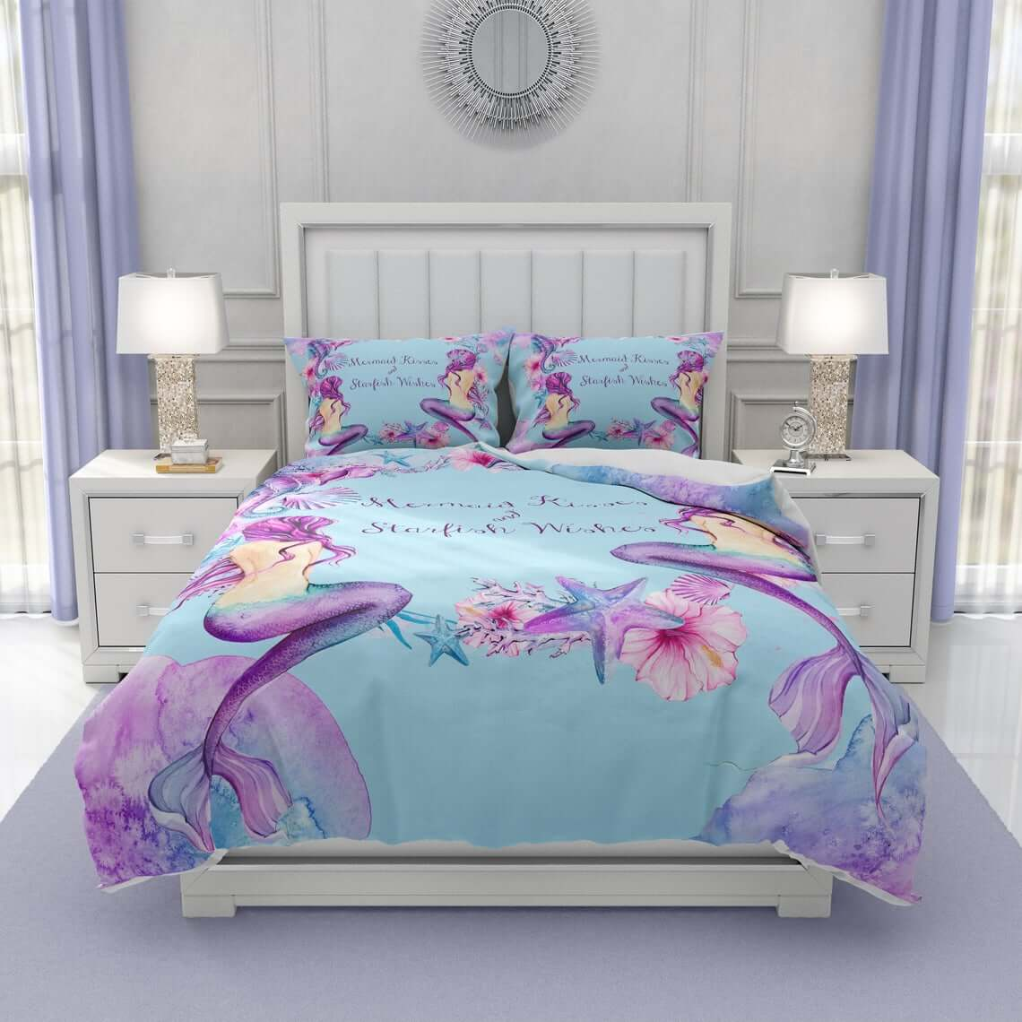 Spectacular Mermaid Themed Pillows and Beddings