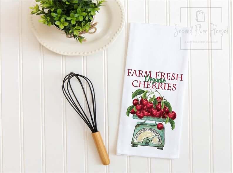 Cherry Kitchen Tea Towel Design