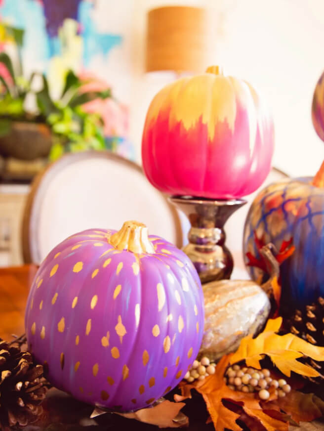 Absolutely Amazing Abstract Painted Pumpkin Decor