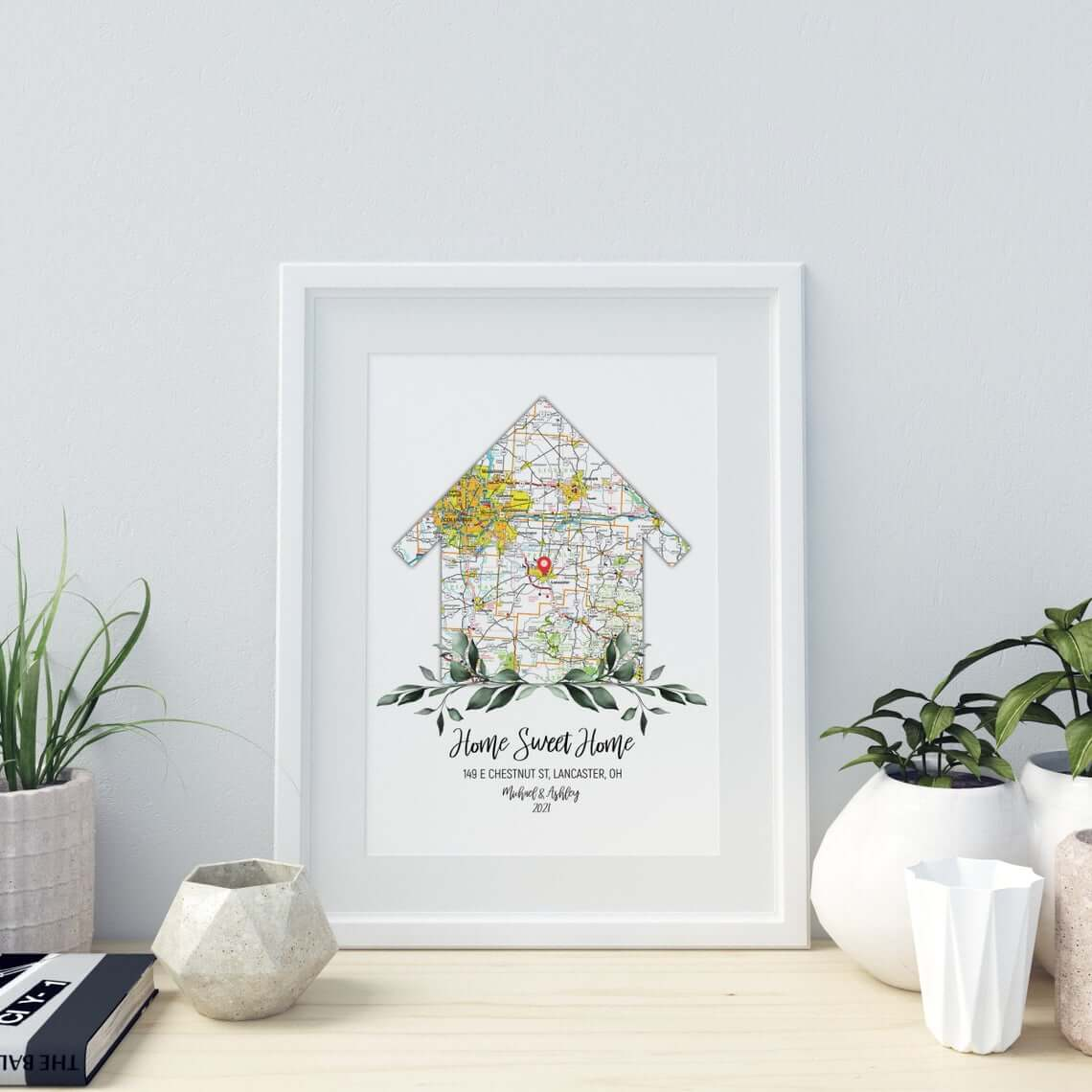Digital New Home Neighborhood Map Print