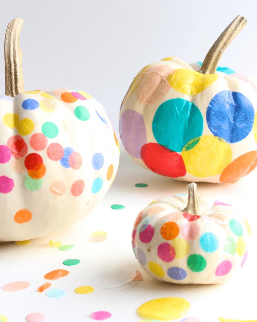 Celebration Colored Confetti Creative Pumpkin Decorating