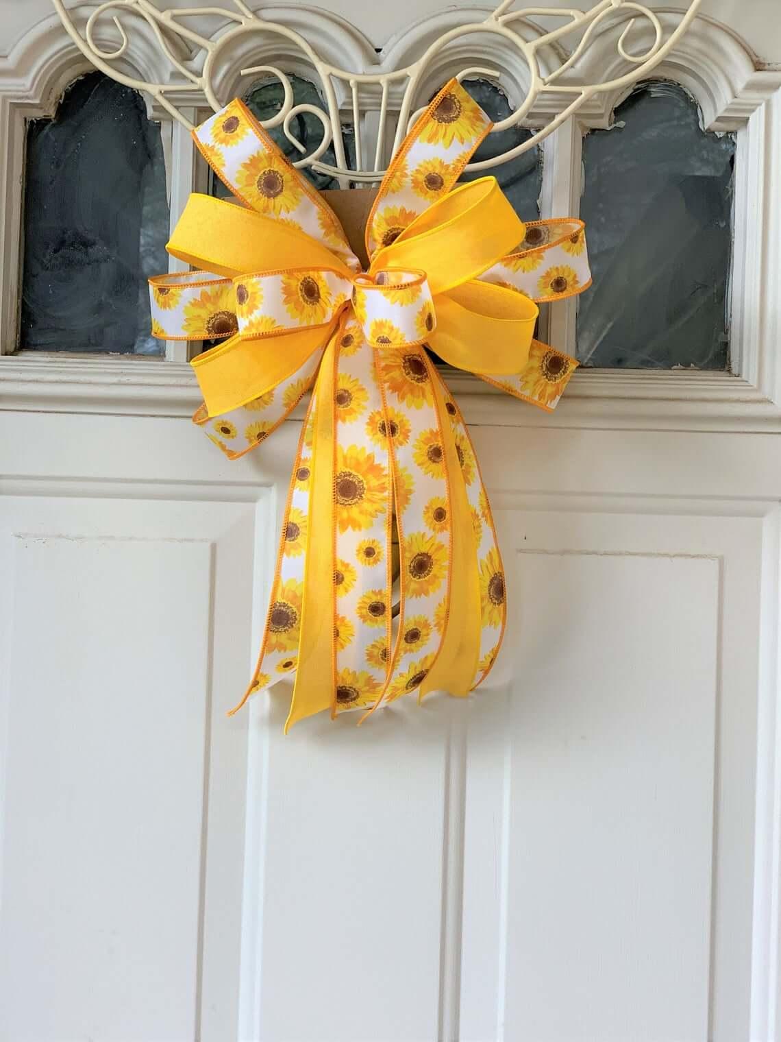 Adorable Yellow Sunflower Door Bow