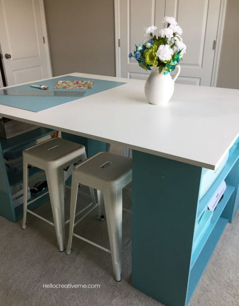 Custom DIY Craft Table with Storage