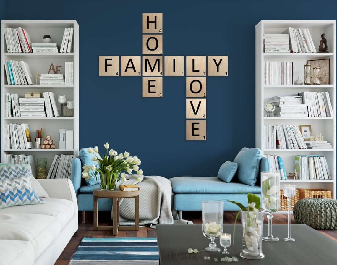 Say Anything with Scrabble Wall Tiles