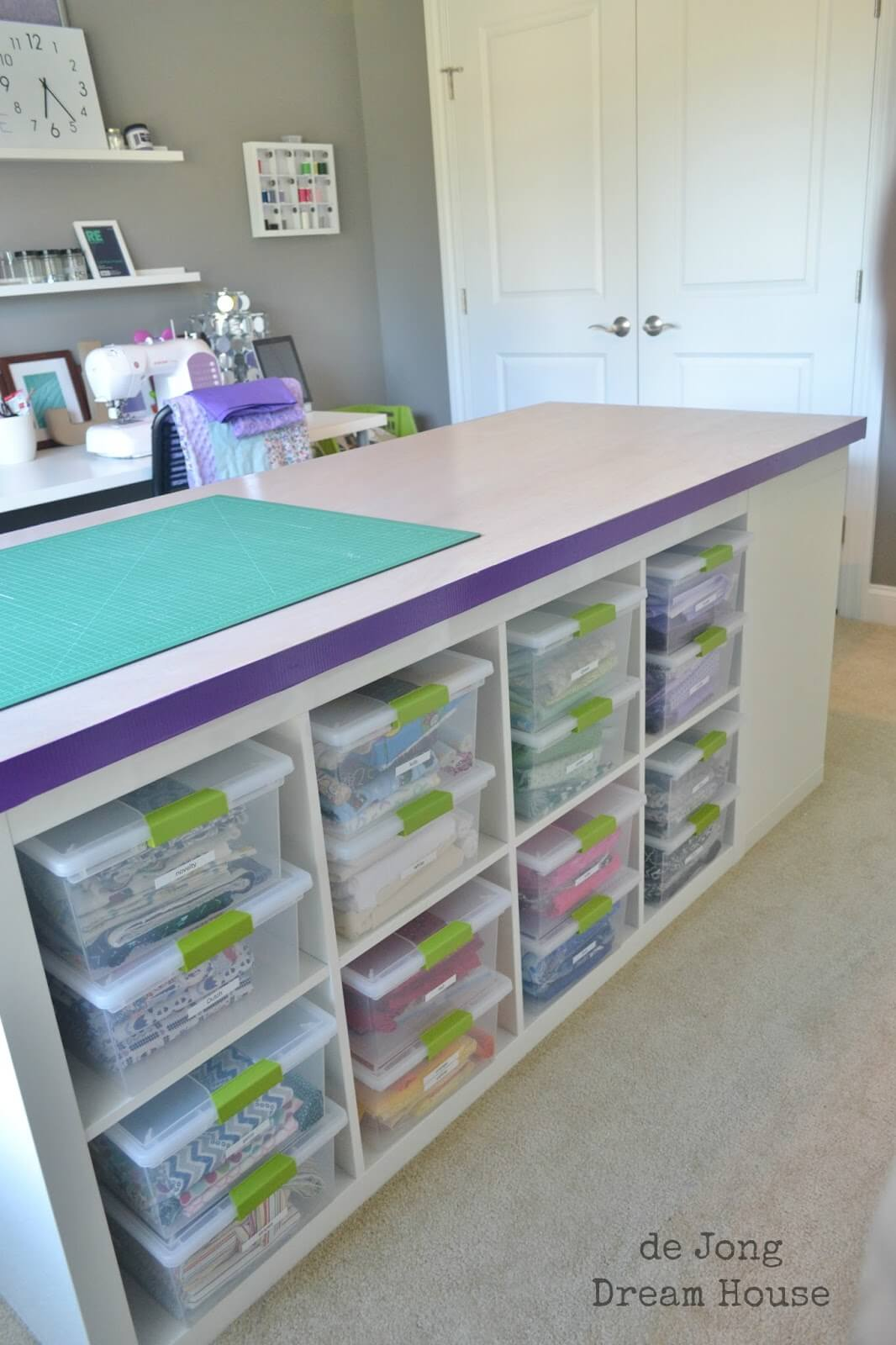 Storage Galore Clever DIY Ikea Craft Table