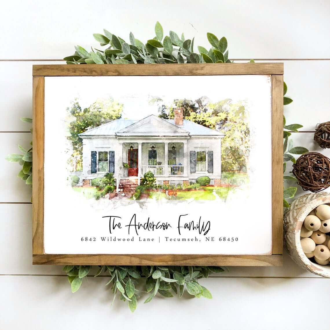 Watercolor Painting of Your New Home