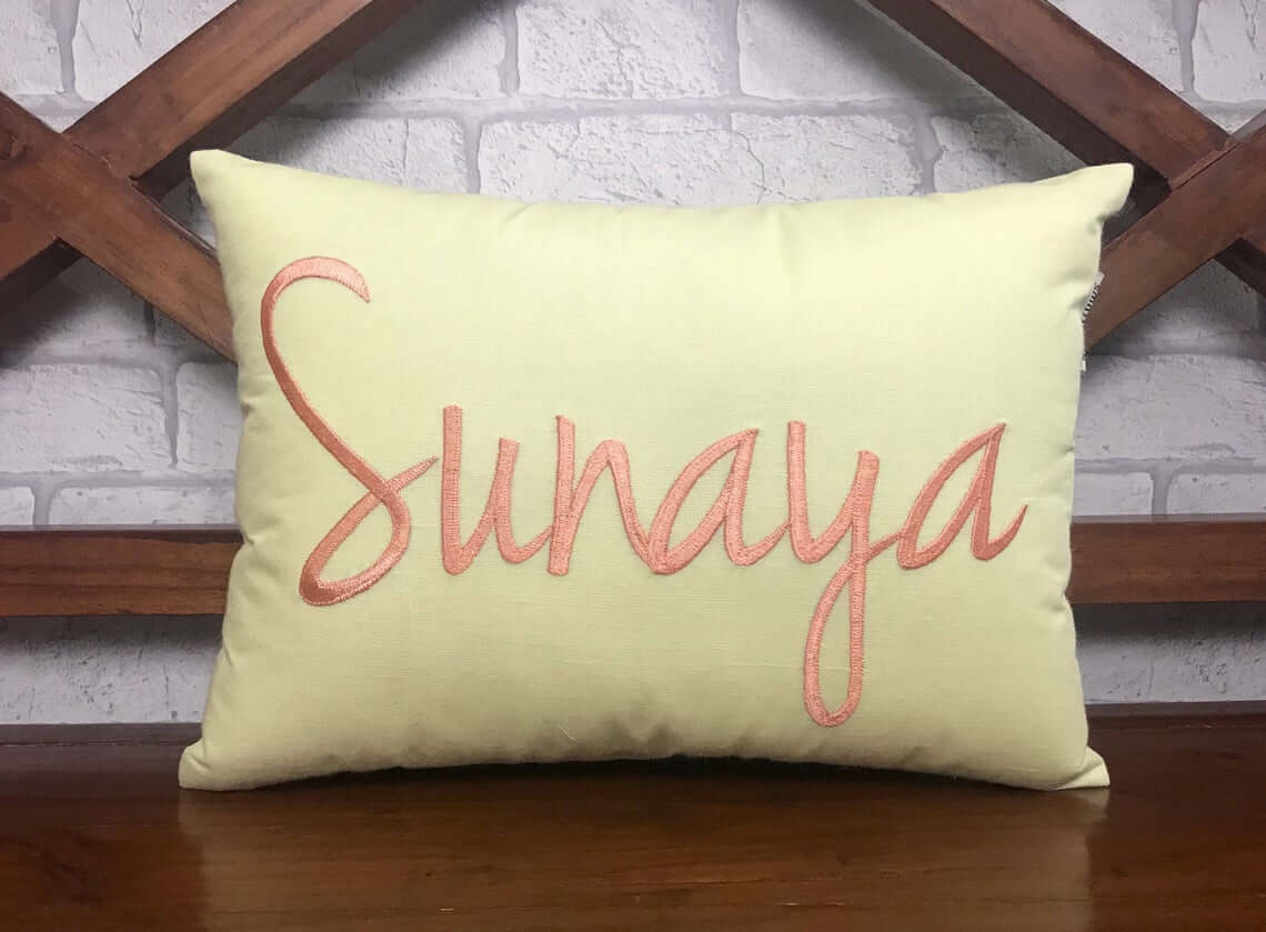 30% Off Silk Embroidered Monogrammed Pillow