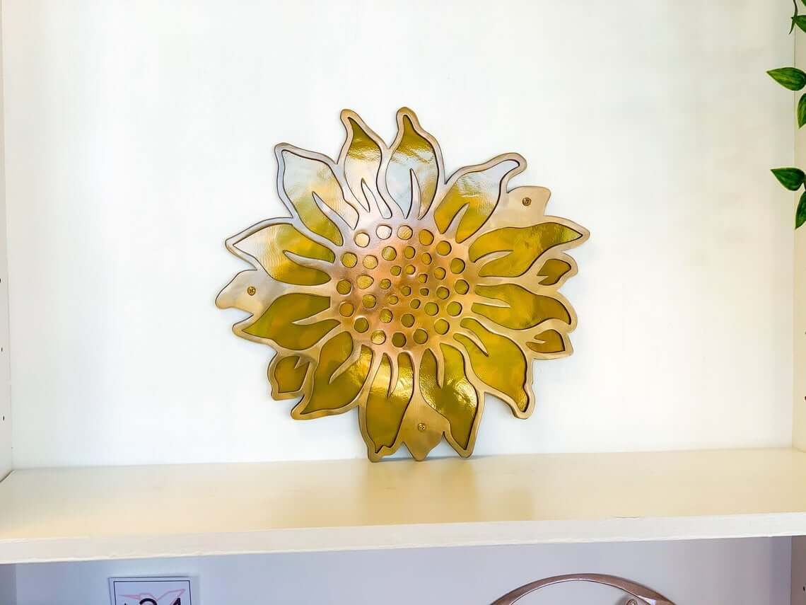 The Perfect Metal Gold Sunflower Wall Art