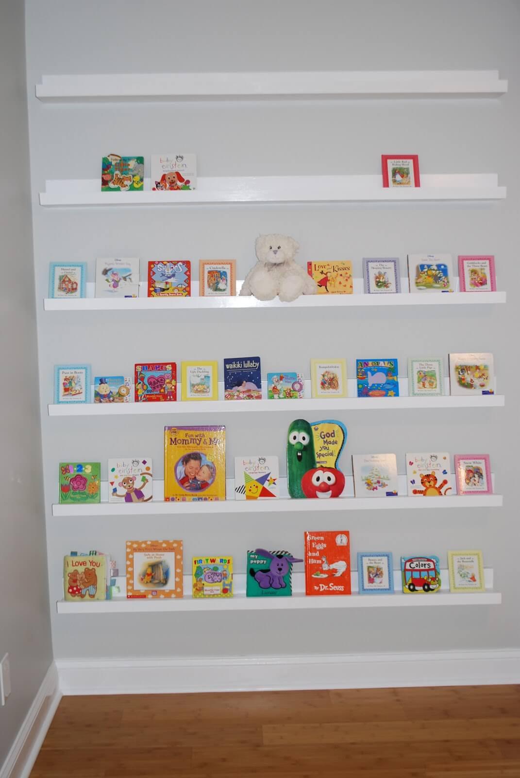 Adorable Nursery Room Wall Shelves