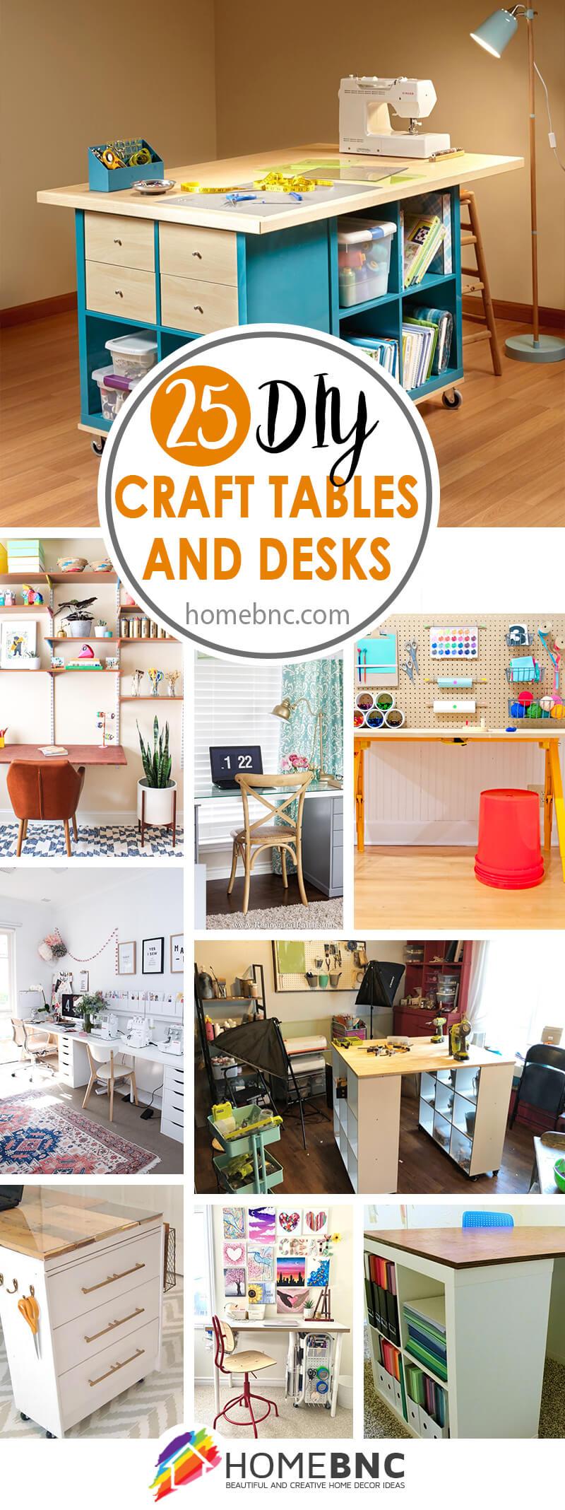 Best DIY Craft Tables and Desks