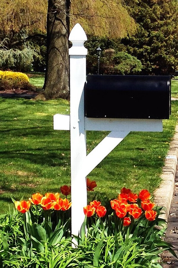 Renovated Old Mailbox and Post