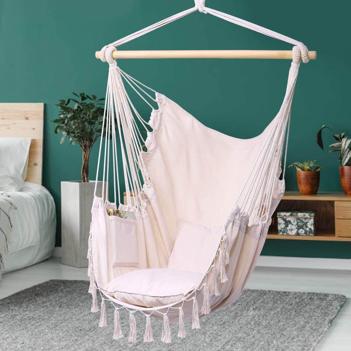 Boho Themed Hammock Swing Chair