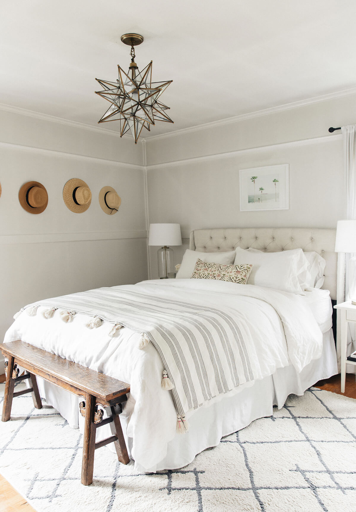 Bold Monochromatic Scandinavian Bedroom Design