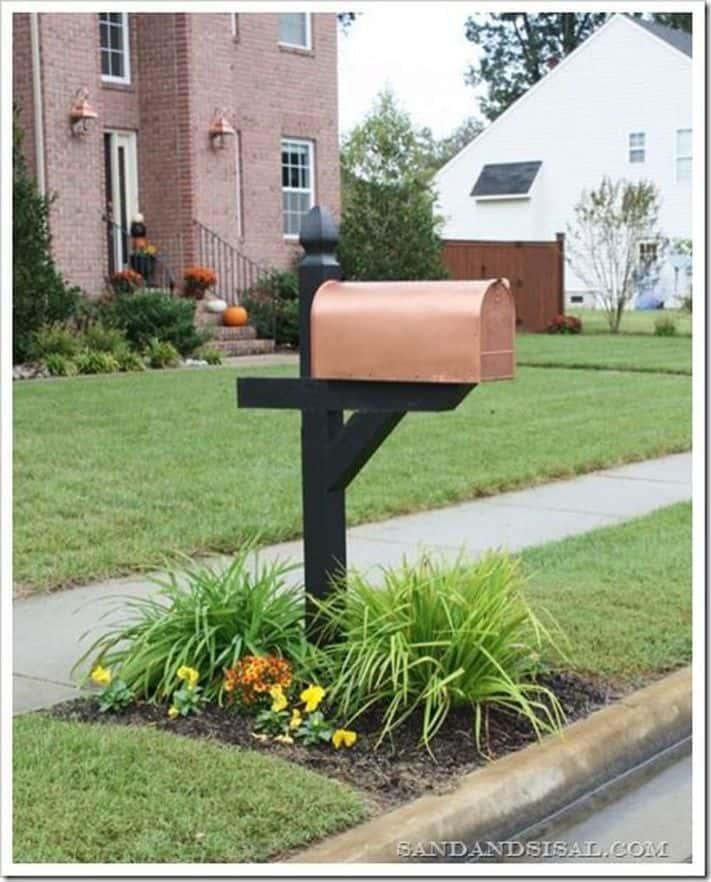 Elegant and Modern Copper Mailbox