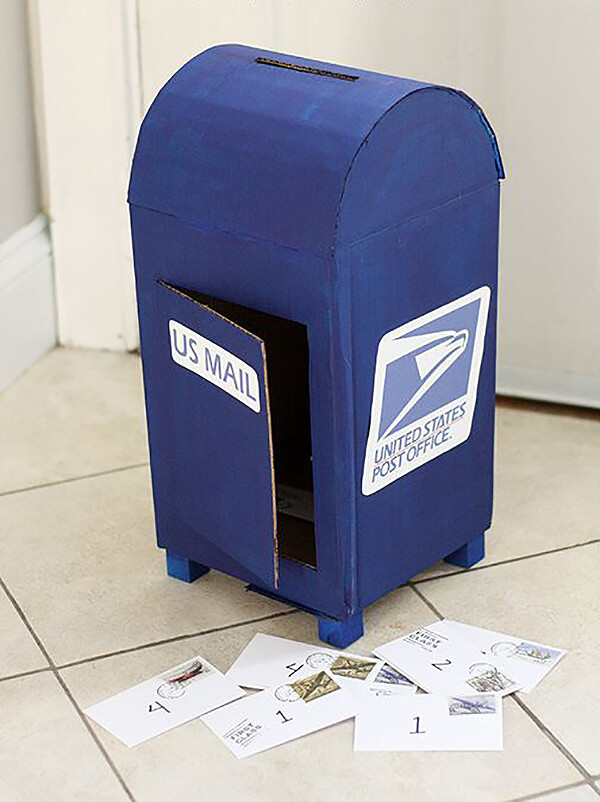 Authentic DIY Cardboard Mailbox Project