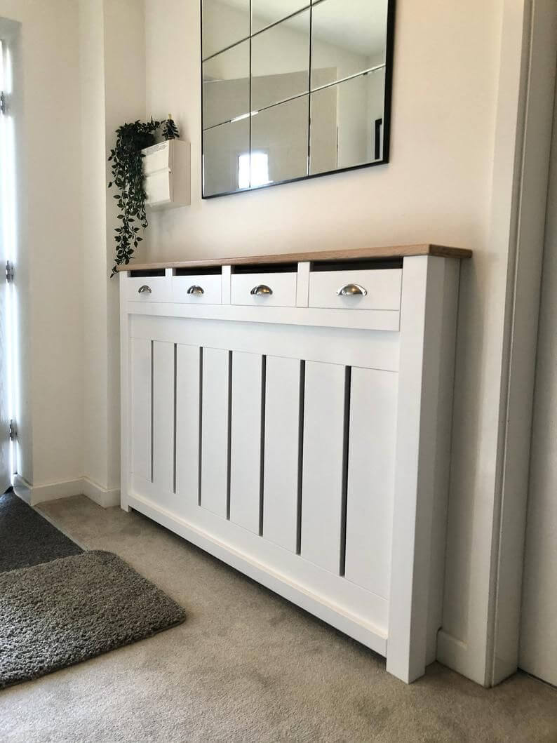 Bespoke Radiator Cover with Drawers