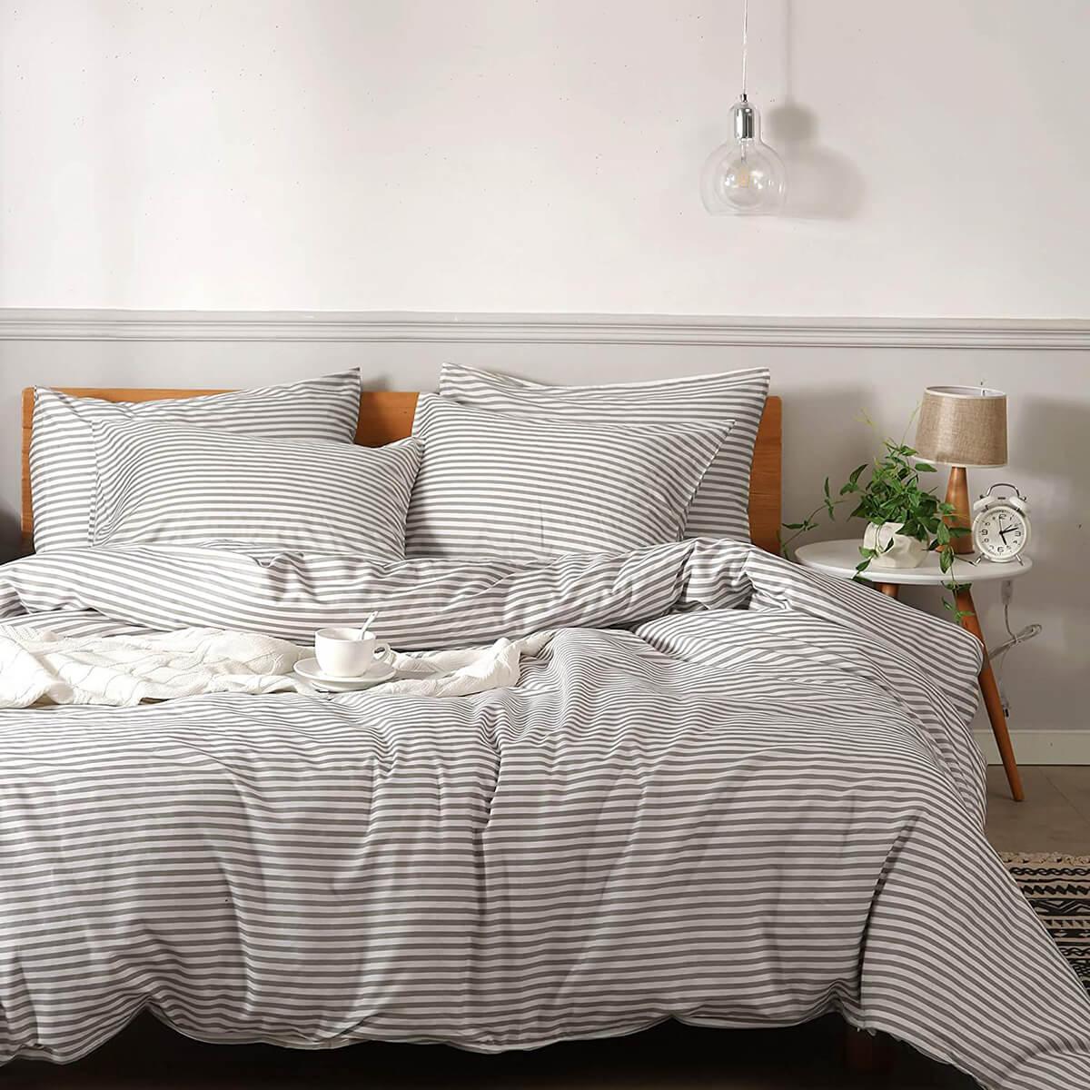 Printed Striped Pattern Jellymoni Cotton Duvet Set