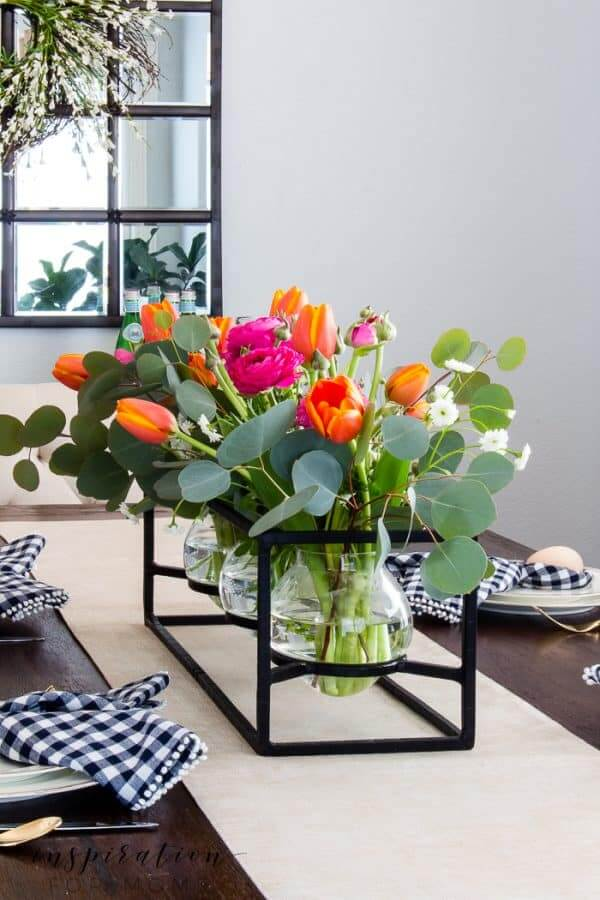 Spring Tablescape Bursting with Colorful Blooms